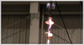 Failed 765kV Aerial Device Test
